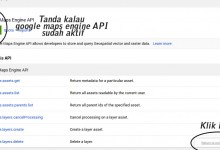 google api key baru on