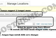 manage locations menu