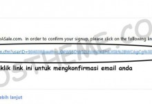 shareasale email konfirmasi